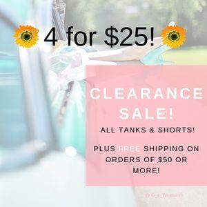 4 $25 CLEARANCE SALE !!